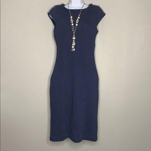 Boden Navy Blue Cap Sleeve Dress 4 A4